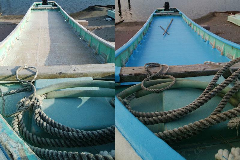 漁船修理・旧式船